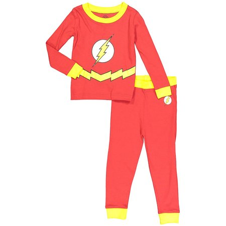 DC Comics Flash Baby Toddler Boy Tight Fit Pajamas 2pc Set