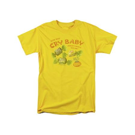 Sour Bubble Gum - Cry Baby Sour Bubble Gum Vintage Ad Faded Adult T-Shirt Tee