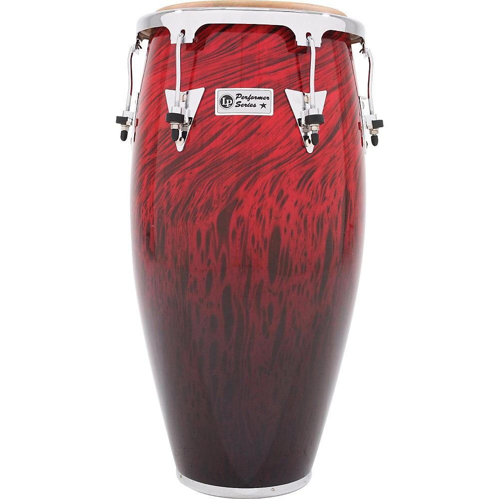 LP Performer Series Conga with Chrome Hardware 11 in. Quinto Red Fade