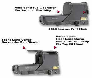 GG&G Scopecover, Fits EOTech 512 552, Flip Lens Cover, Black GGG-1275 by GG&G, Inc.
