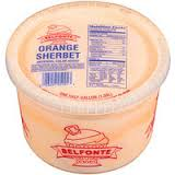 Belfonte Orange Sherbet, 64 oz