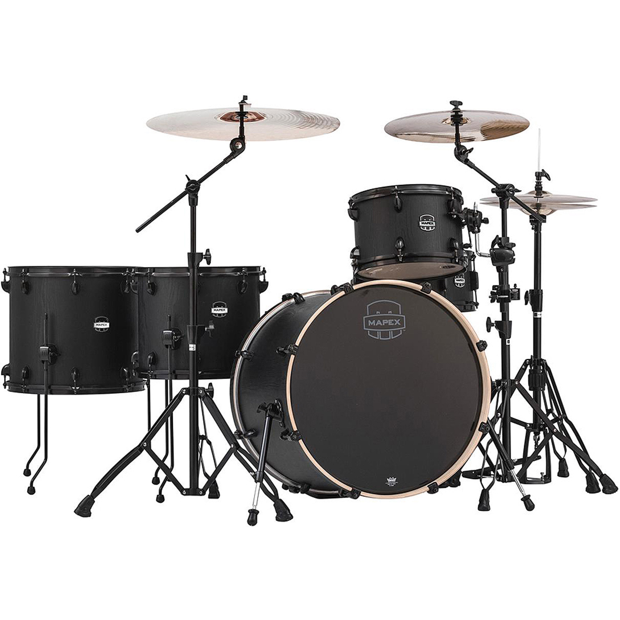 Mapex Mars Series Crossover 5-Piece Drum Shell Pack, Zebrawood