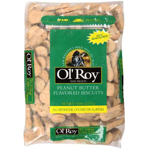 Ol' Roy Peanut Butter Flavored Biscuits Dog Treats, 5 Lb