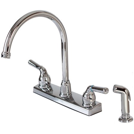 Hardware House Double Handle Kitchen Faucet with Side