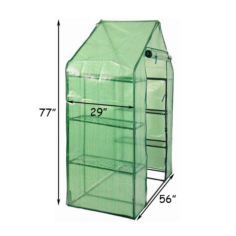 Portable Mini Walk In Outdoor 4 Tier 8 Shelves Greenhouse - image 8 of 9