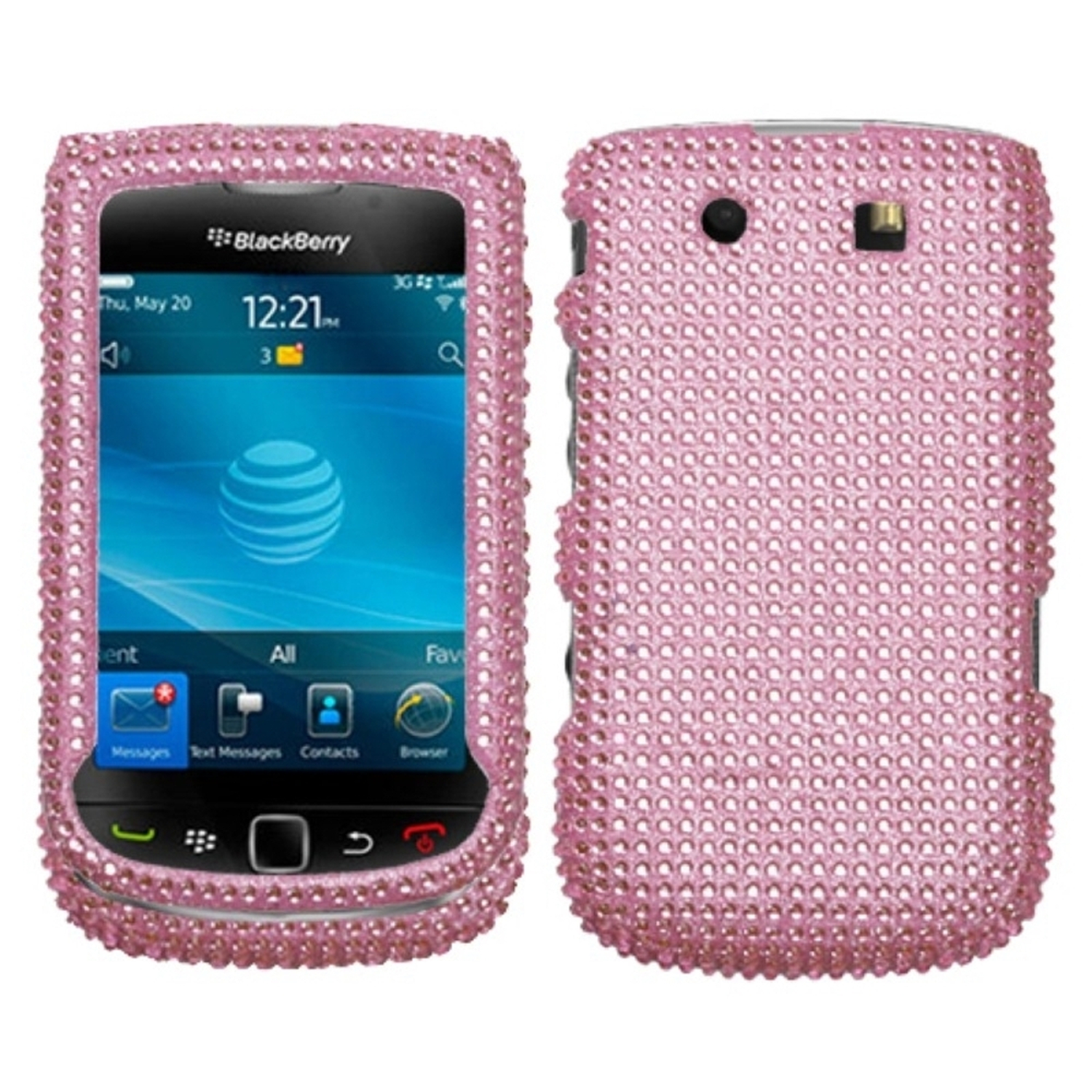 Insten Pink Diamante Case Cover For BLACKBERRY 9800 Torch 9810 Torch 4G