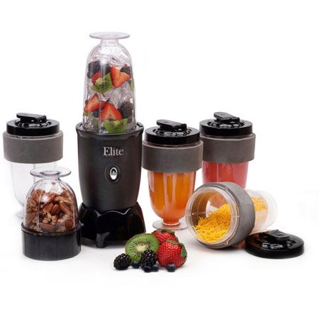 elite cuisine 17 piece personal drink blender with 4 16 oz travel cups. Black Bedroom Furniture Sets. Home Design Ideas