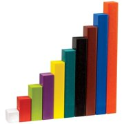 hand2mind Plastic Cuisenaire Rods Individual Kit For Kids Ages  5-13, Hands On Math Manipulatives For Kids To Learn Numbers, Fractions, And Ratio, Homeschool Supplies (Set of 74)