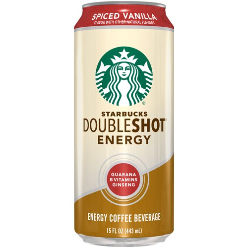 North American Coffee Partnership Starbucks Doubleshot ® Energy Spiced Vanilla Energy Coffee Beverage 15 Fl. Oz. Can