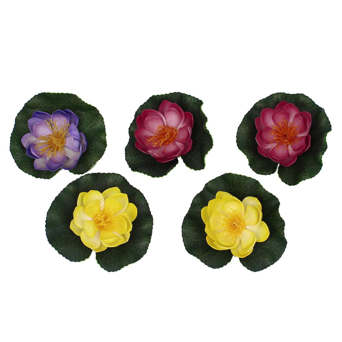 5pcs Fish Tank Decor Artificial Aquatic Foam Lotus Flower Plants