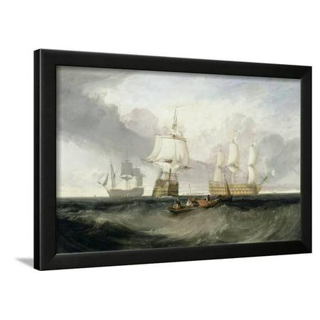 The 'Victory' Returning from Trafalgar, 1806 Framed Print Wall Art By J. M. W. - 1806 Framed Print