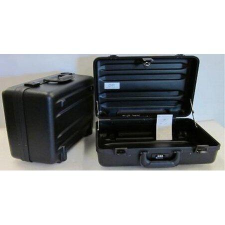 C.H. Ellis 05-5073 Black Polyethylene Plastic Tool Case - 17.75