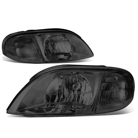 For 1999 to 2003 Ford Windstar Headlight Smoked Housing Clear Corner Headlamp 00 01 02 Left+Right (Ford Windstar Headlight Assembly)