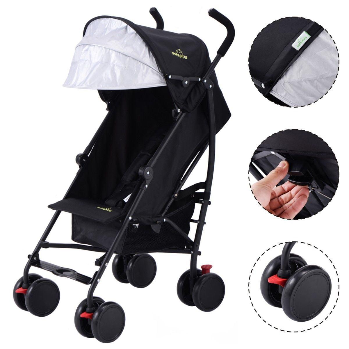 Lightweight Umbrella Stroller Baby Toddler Travel Canopy Hood Storage Basket by costway