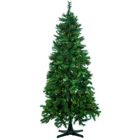 - 7.5' Cashmere Mixed Pine Artificial Christmas Tree w/ Multi-Color Lights