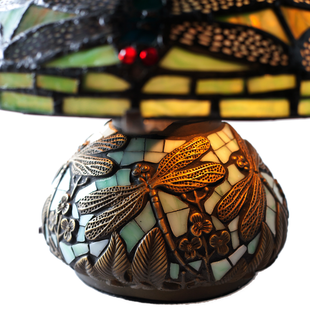 145472794966 River of Goods Mini Dragonfly Stained Glass Table Lamp - Walmart.com
