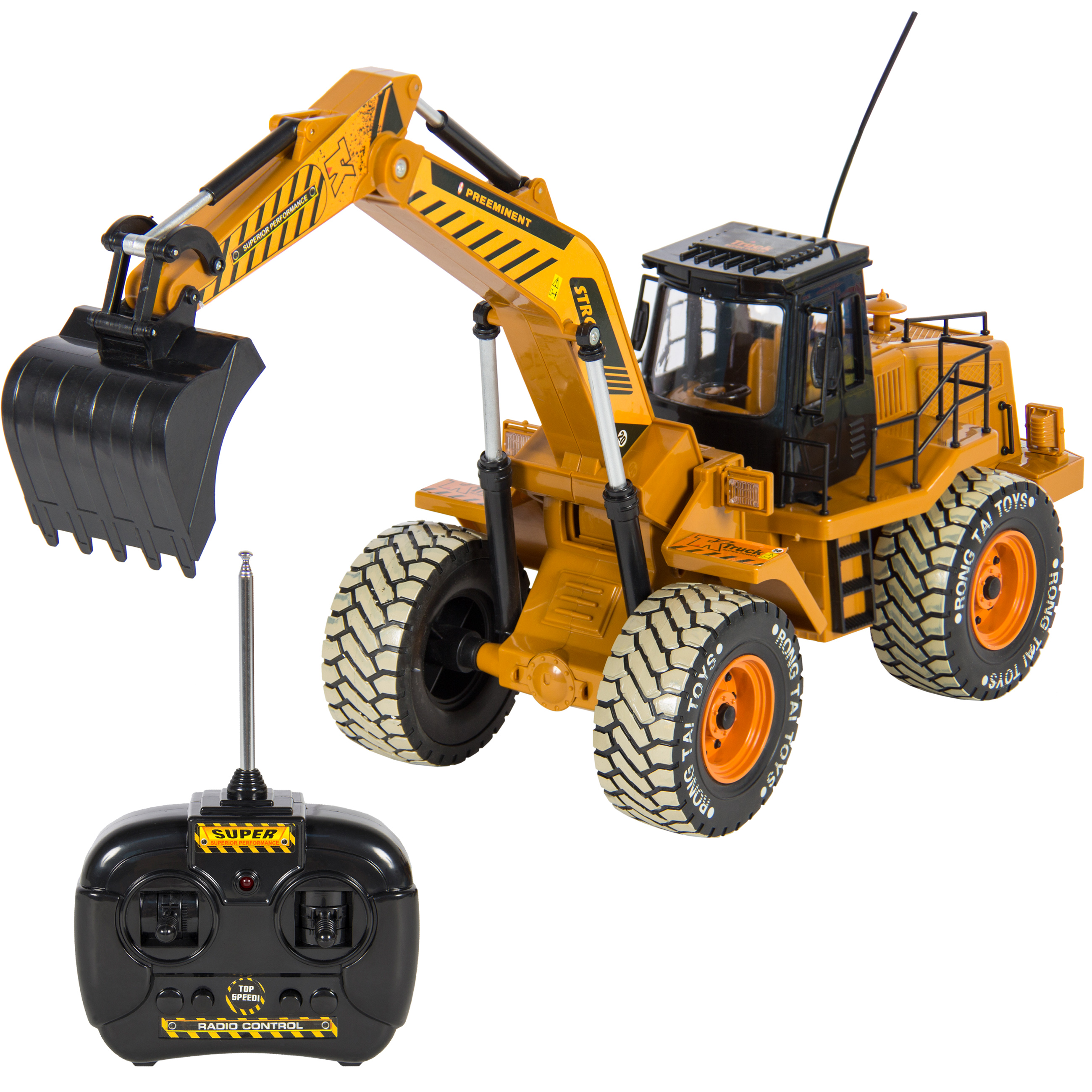 1:10 Scale RC Excavator Tractor Digger Construction Truck Remote Control Battery Powered Electric 6 Channel by