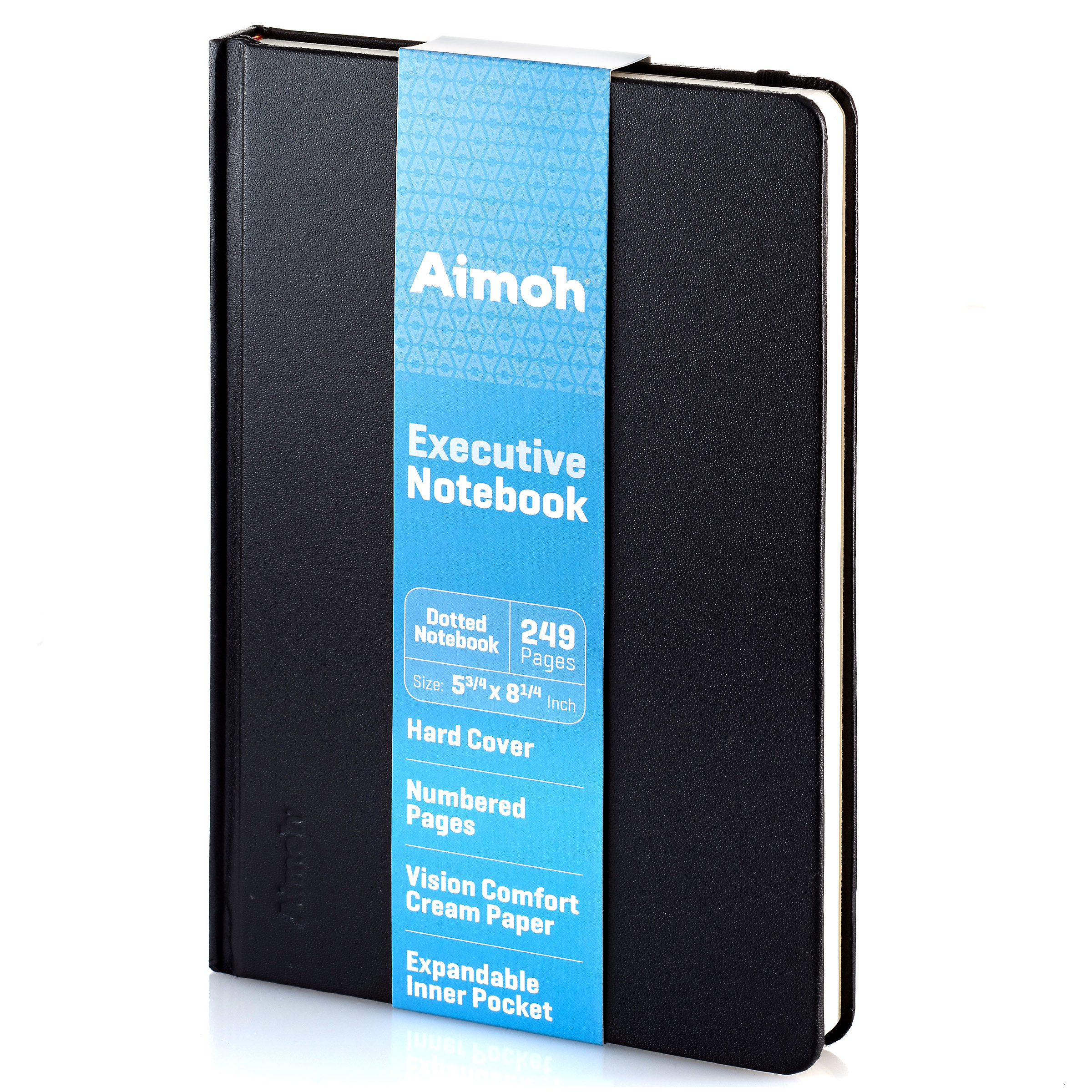 """Executive Hardcover Dotted Notebook, 5 x 8-1/4"""" - Elastic Closure (60585)"""