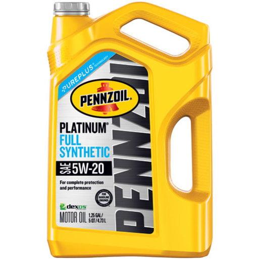 Pennzoil Platinum 5W-20 Full Synthetic Motor Oil, 5 qt - Walmart.com