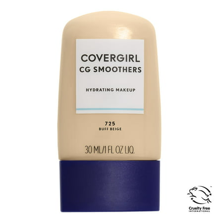 COVERGIRL Smoothers Hydrating Makeup, 725 Buff (50's Style Makeup)