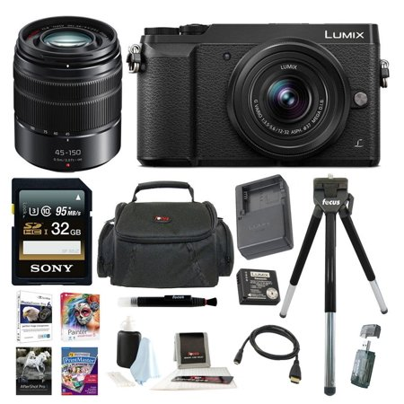 Panasonic LUMIX GX85 4K Mirrorless w/ G Vario H-FS45150AK Lens + 32GB Acc