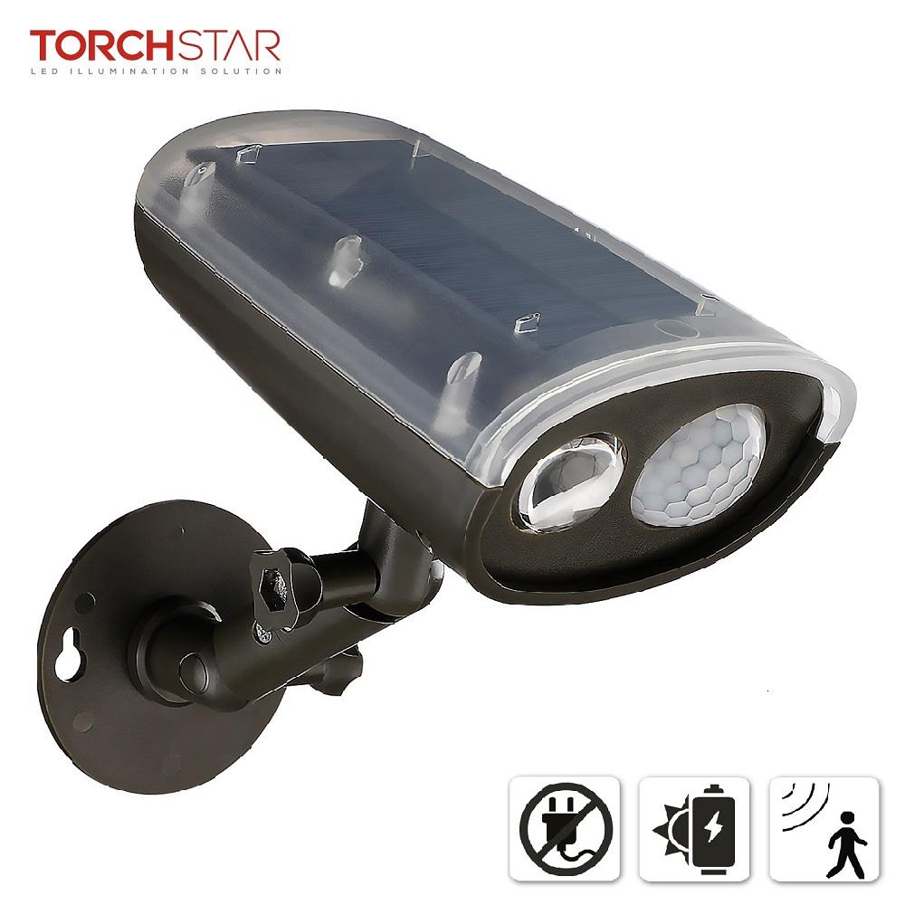 4 LED Solar Motion Sensor Light Outdoor Security Waterproof Wall Mount Spotlight