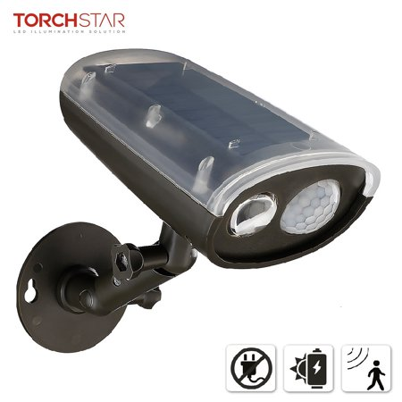 TORCHSTAR LED Solar Powered Outdoor Security Light with Motion Sensor, Waterproof Wireless Solar Wall Lights for Patio Solar Security Light