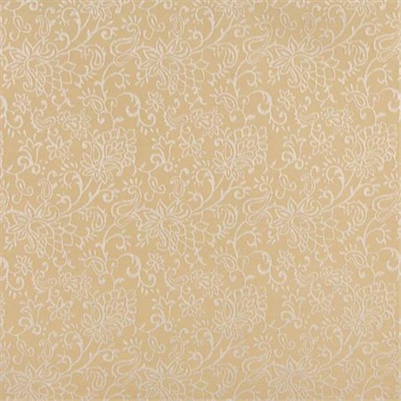 Contemporary Floral Fabric - Designer Fabrics B608 54 in. Wide Gold, Contemporary Floral Jacquard Woven Upholstery Fabric