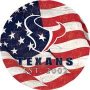 "Houston Texans 12"" Team Color Flag Sign"