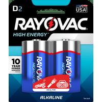 RAYOVAC 8132D ALKALINE D CARD BATTERY 2 PACK