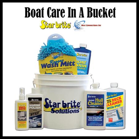 StarBrite 083701N Boat Care In A Bucket Starter Kit Wash Cleaner Polish