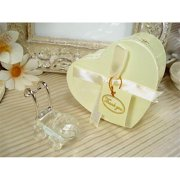 DLusso Designs CR-Carriage Mini CRystal Carriage In Satin Lined Heart Box, Pack Of - 4.