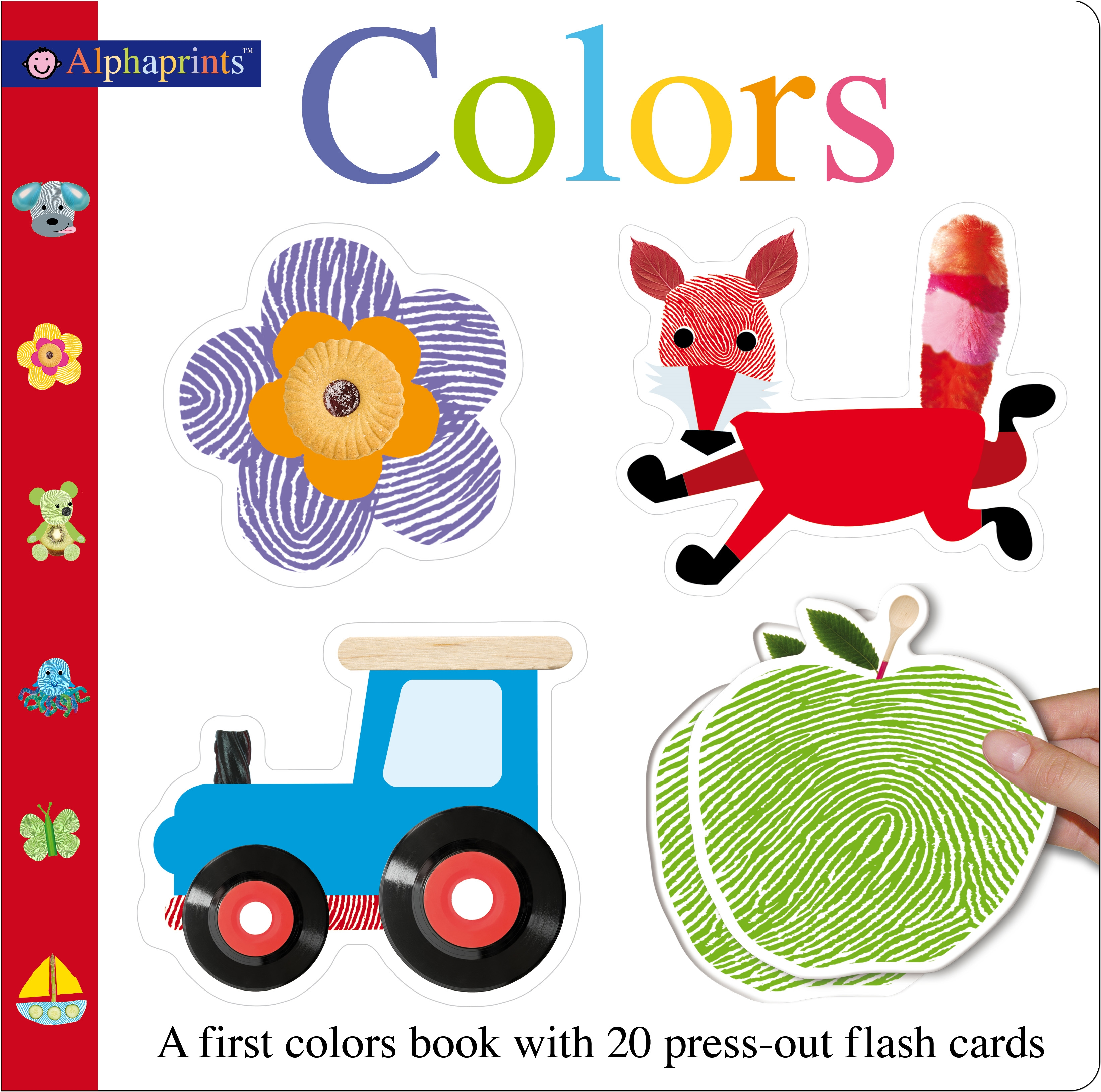 Alphaprints Colors Flash Card Book : A first colors book with 20 press-out flash cards