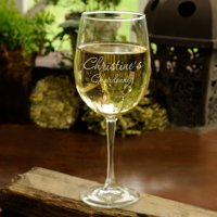 Personalized White Wine Glass - Monogrammed White Wine Glass