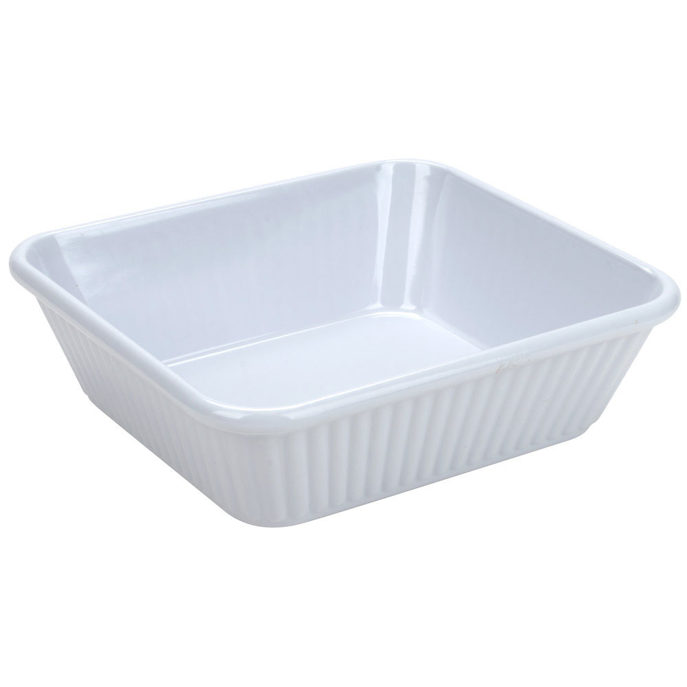 3 qt. 10 inch x 8.75 inch Casserole Dish 3 inch Deep White Melamine Case of 3 by