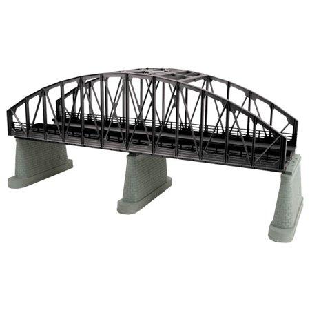 MTH 40-1111 O 2-Track Black Steel Arch Bridge (Mnh Trains)