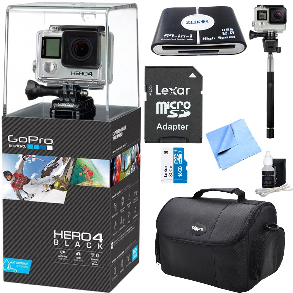 HERO 4 Black - 4K Action Camera All Inclusive Bundle. Inc...