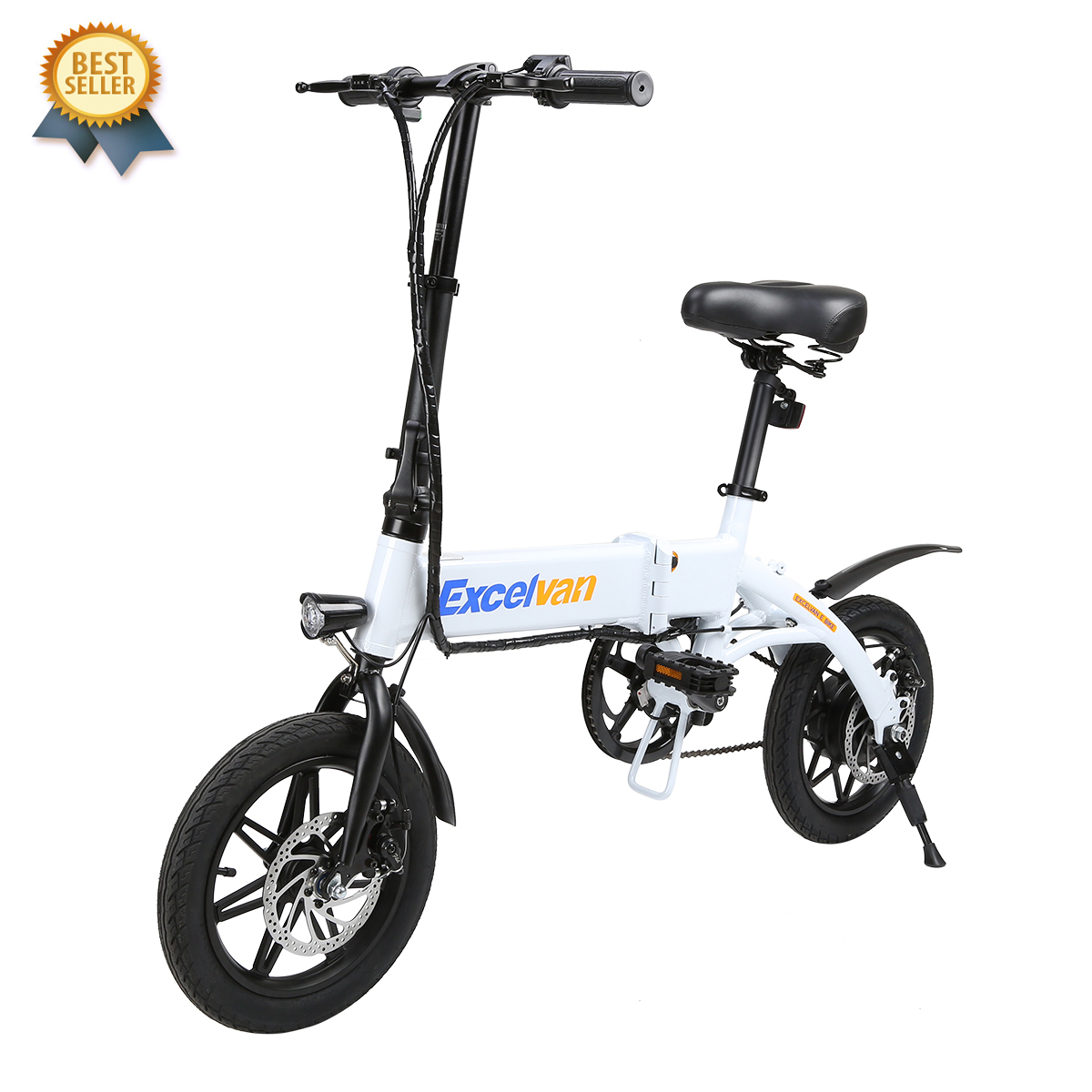 Excelvan Folding E-Bike Pro Lightweight Bicycle Multi-Speed Cruiser Bike 14inch Wheels