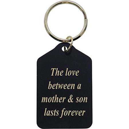 Mom Keychain - The Love Between A Mother and Son Lasts Forever - Black Brass Keychain - Great Gift for Mothers's Day Birthday or Christmas Gift for Mom Grandma Wife