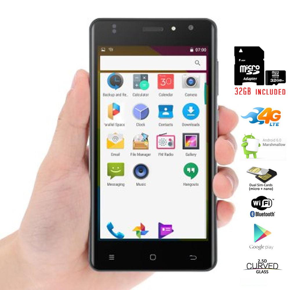 "Indigi® Unlocked Indigi Curved 5.0"" QuadCore 4G Android 6.0 SmartPhone + 32gb included"