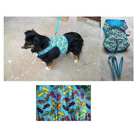 FASHION PRINT No Choke XL Harness Vests For Dogs - Smaller Dog Vest Harnesses(Flip Flop Pattern)