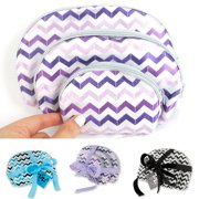 3Pc Cosmetic Makeup Bag Set Case Pouch Toiletry Purse Storage Travel Jewerly New by D.M. MERCHANDISING