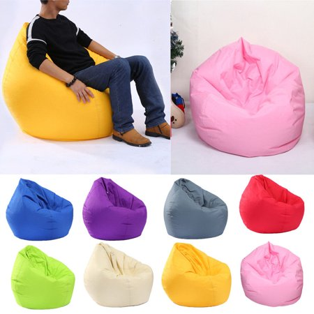Bean Bag Chair Sofa Cover Large Pouch Beanbag Lazy Couch Single Chair Furniture Blue Denim Bean Bag