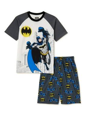 Batman Boys Black Character Top 2pc Short Set Size 4 5 6 7