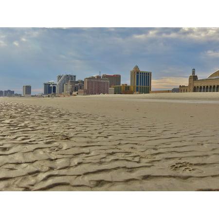 Canvas Print Ocean Boardwalk Casino City Hotels Atlantic Stretched Canvas 10 x 14