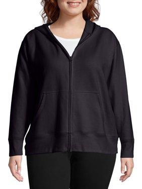 2cfc1240b8b Product Image Just My Size Women s Plus Size Fleece Zip Hood Jacket