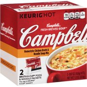 Campbells Fresh-Brewed Soup Homestyle Chicken Broth & Noodle Soup Mix Coffee Podss, 0.67 oz, 2 ct