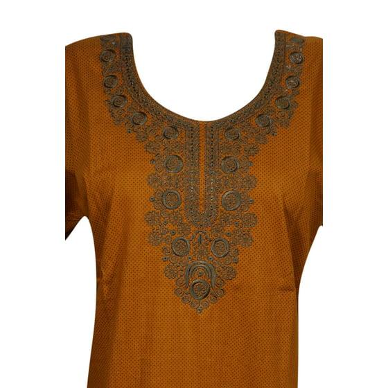 91dd897406 Mogul Interior - Mogul Womens Cotton Maxi Caftan Dress Neck ...