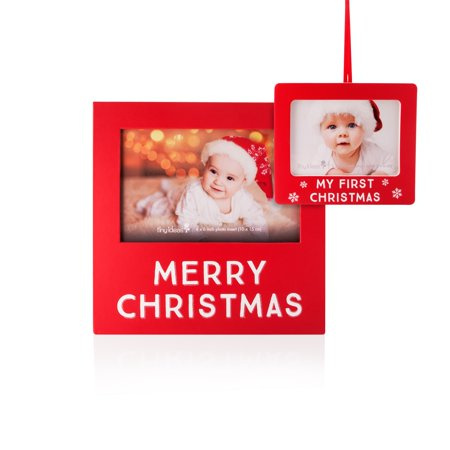 - Tiny Ideas Christmas Frame and Photo Ornament Set