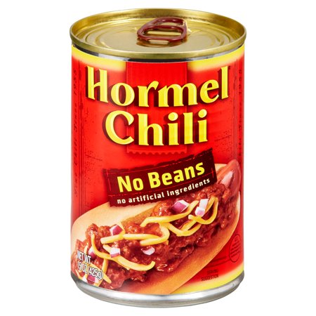 (4 pack) Hormel Chili No Beans, 15 Ounce (Chili)